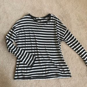 BOGOFREE! Striped Long Sleeve Loose Fitted Tee